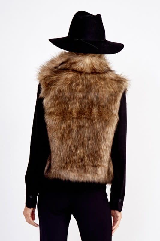 Faux Fur Collared Vest