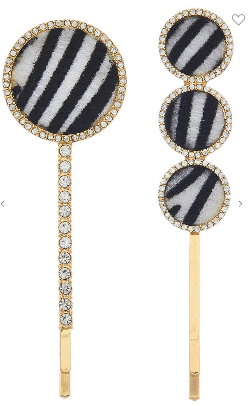 Zebra Bobby Pin Set