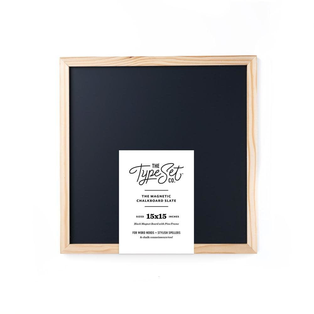 15x15 Magnetic Letter Board Slate Black