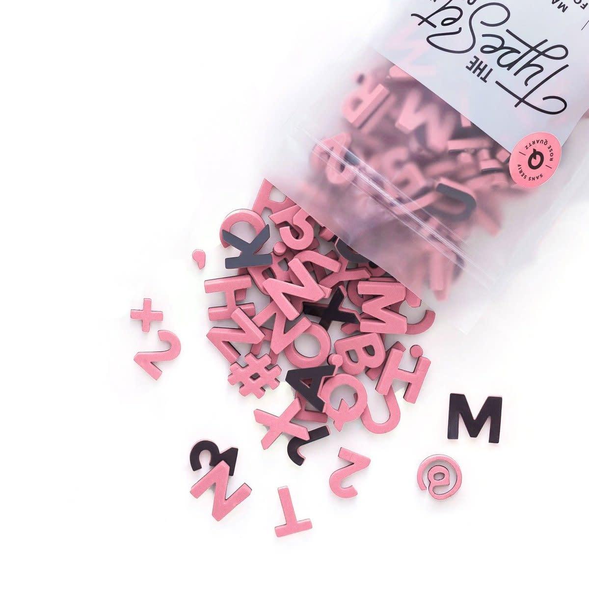 Soft Magnetic Letters Sans Serif Rose Quartz