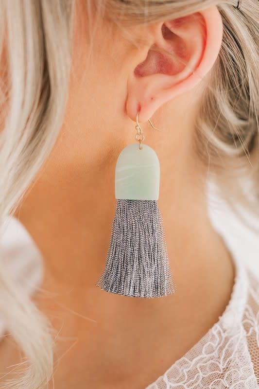 Thread Tassel Earring
