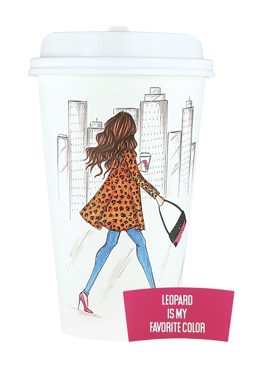 Leopard is my favourite color disposable travel cup