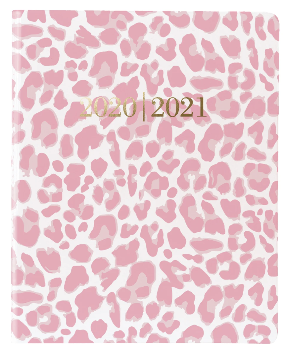 Pink Cheetah Medium 14-Month Vinyl Planner