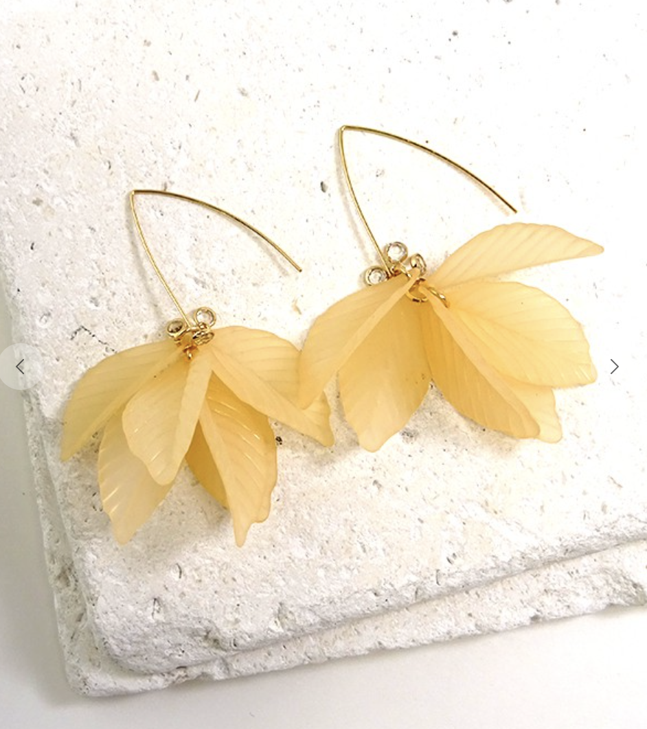 Cascading Leaves Earring Nude