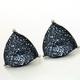 Blue Glitter Triangle Earring