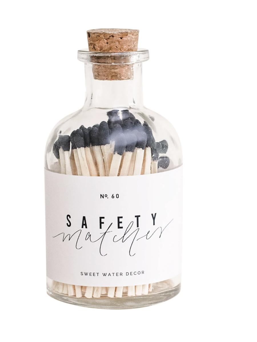 Black Apothecary Jar Matches