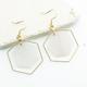 Doubled hexagon earrings