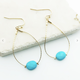 Turquoise Teardrop with Stone Earring