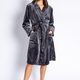Luxe Plush Robe Charcoal