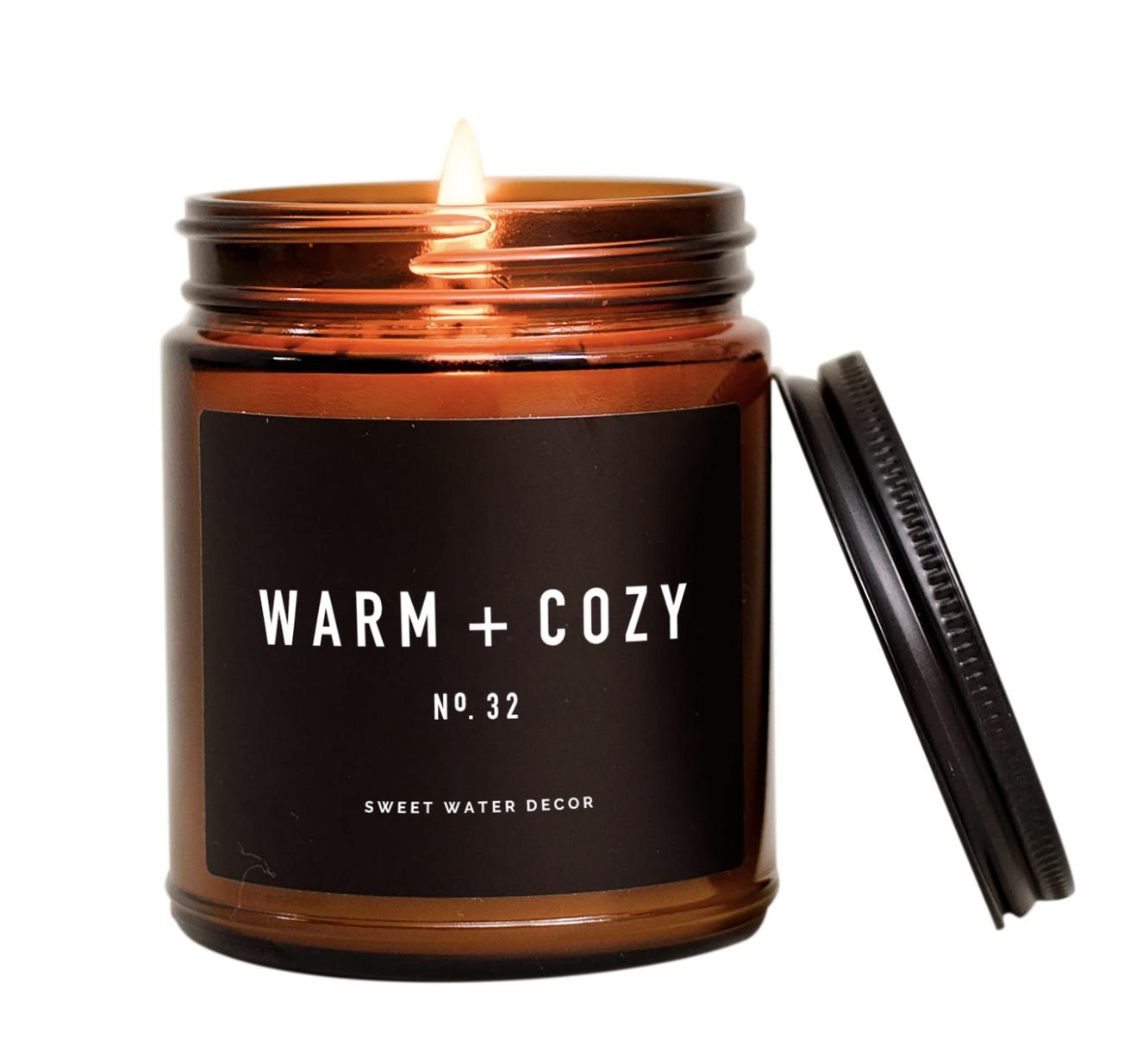 Warm & Cozy Candle Amber Jar