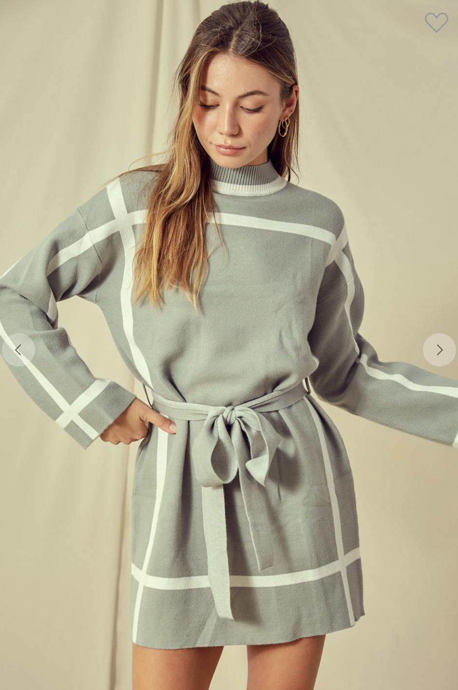 Stripe Point Dress