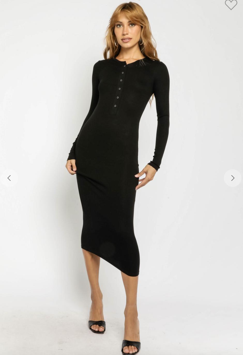 Ribbed Midi Tee Dress