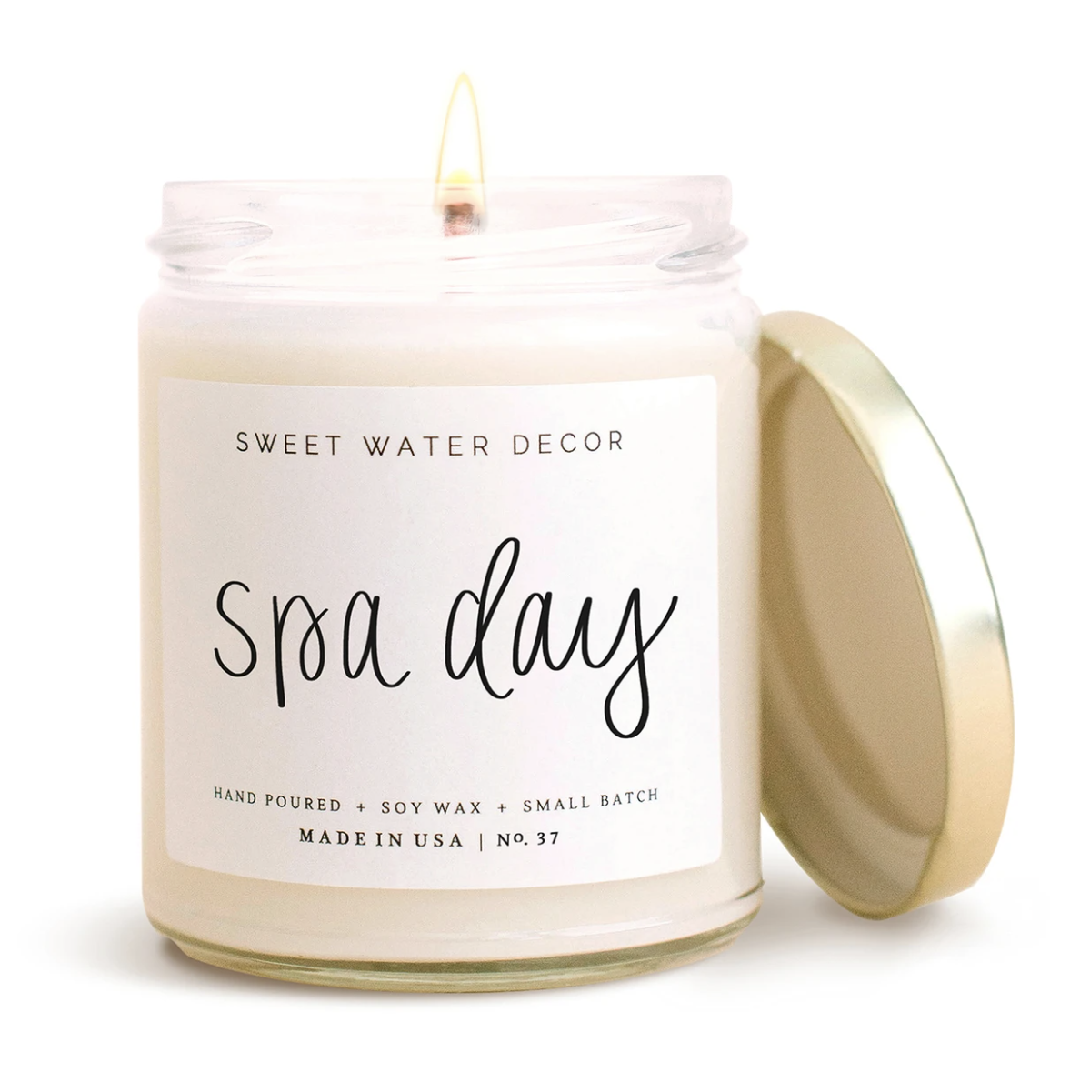 Spa Day Candle Clear Jar