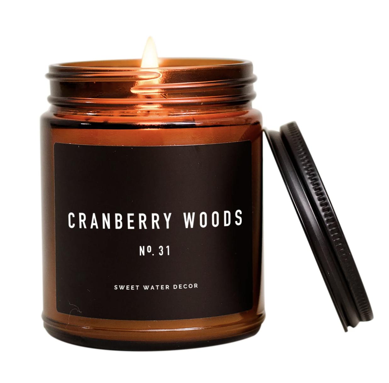 Cranberry Woods Candle Amber Jar