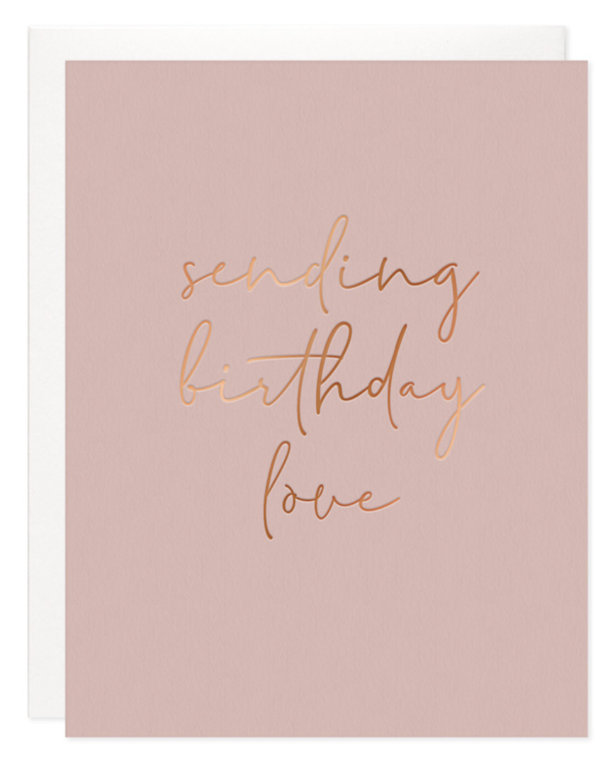 Sending Birthday Love Card