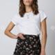 Floral Mini Skirt w/Ruching