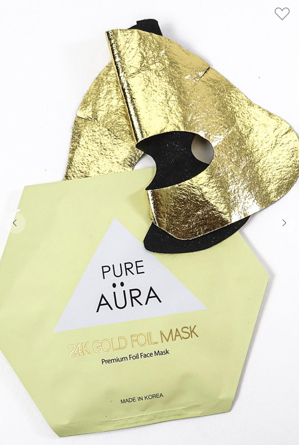 24K Gold Metallic Foil Mask