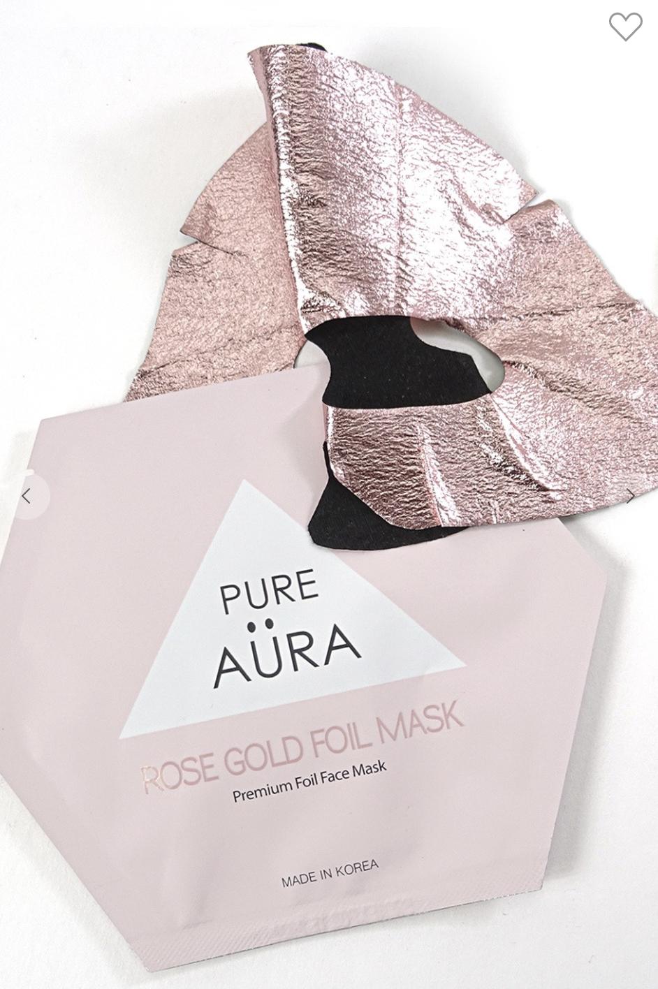 Rose Gold Metallic Foil Mask