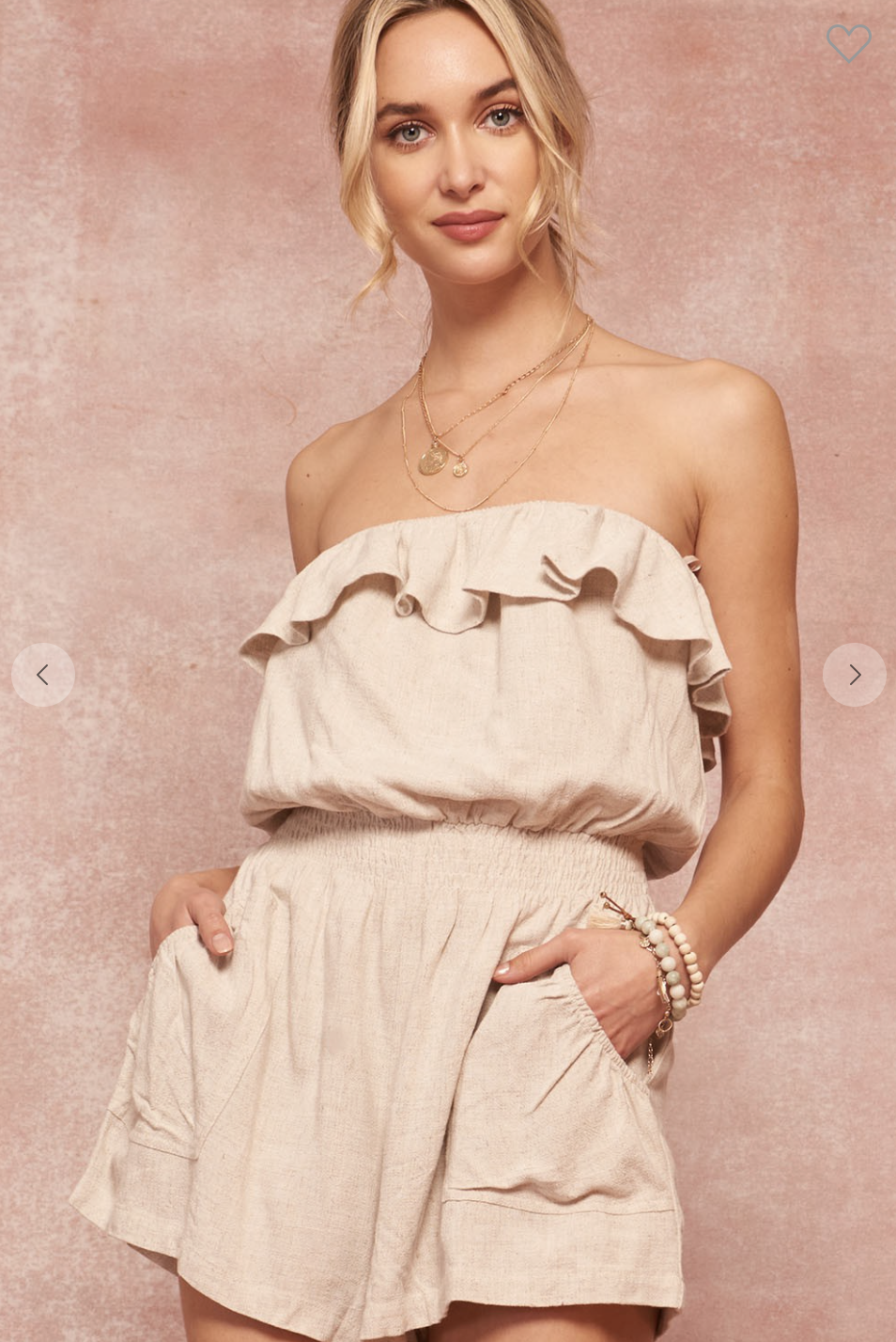 Strapless Pocket Tube Romper