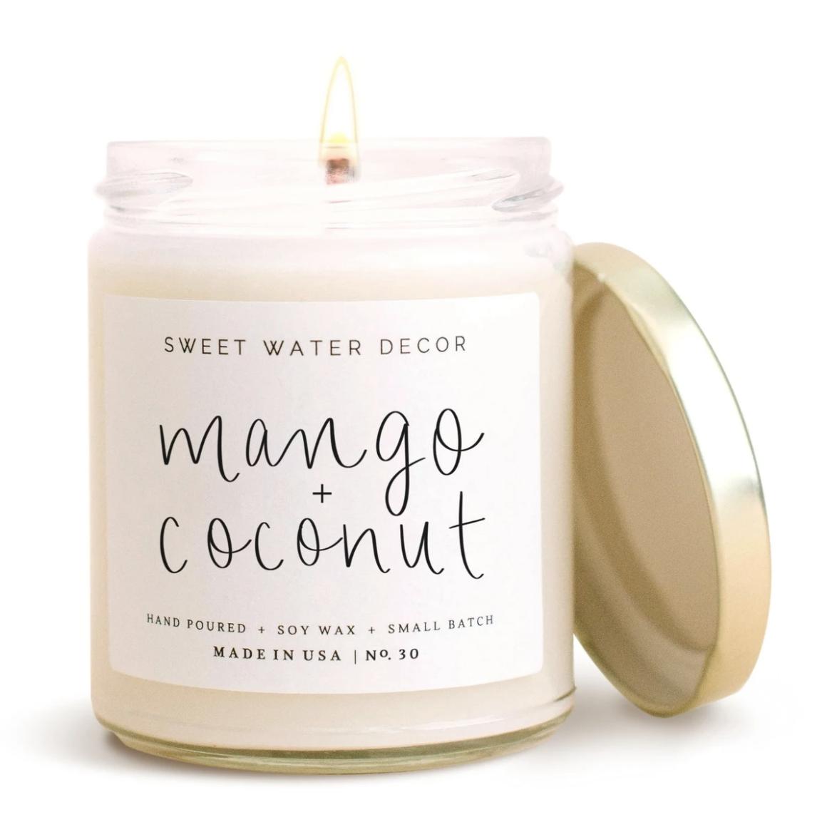 Mango & Coconut Clear Jar