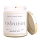 Relaxation Candle Clear Jar