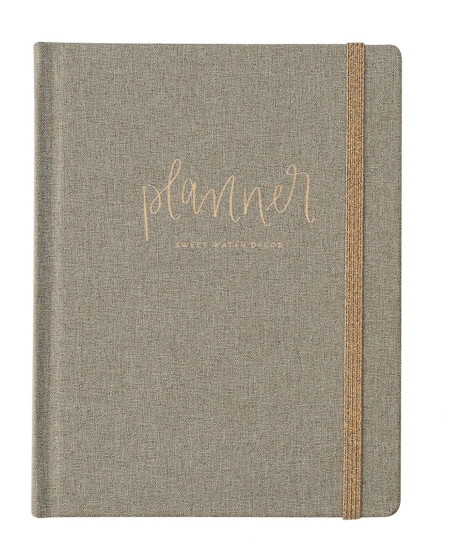 Grey Fabric Dateless Planner
