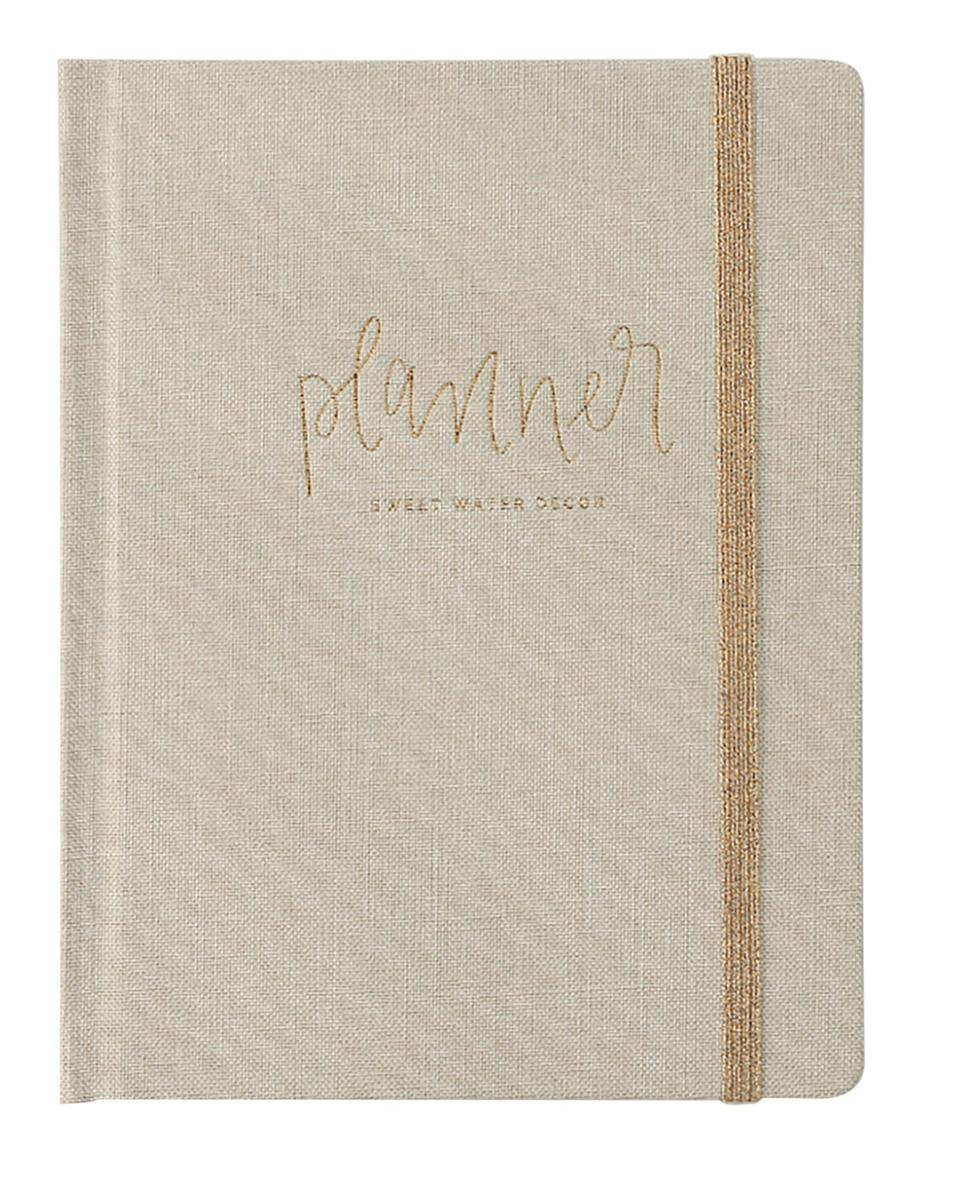 Tan Fabric Dateless Planner