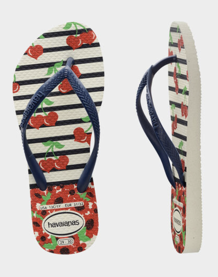 Havaianas Kids Slim Flip Flop - Navy Cherry