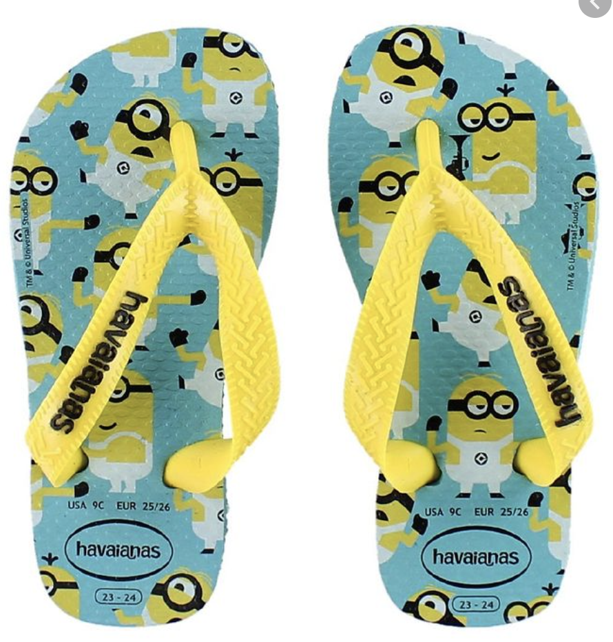 Havaianas Kids Slim Flip Flop - Minion Yellow