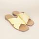 Juliette Lemon Perforated Sandal