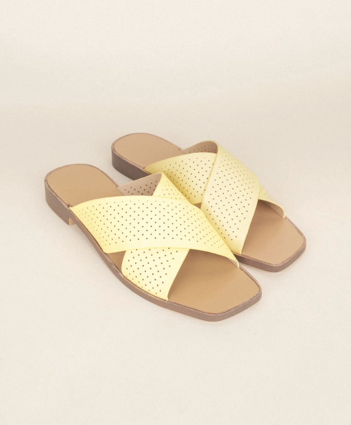 Juliette Lemon Perforated Sandal