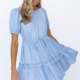 Short Sleeve Tiered Dress