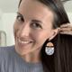 Pastel Deco Drop Earrings