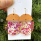 Pink Glitter Deco Drop Earrings