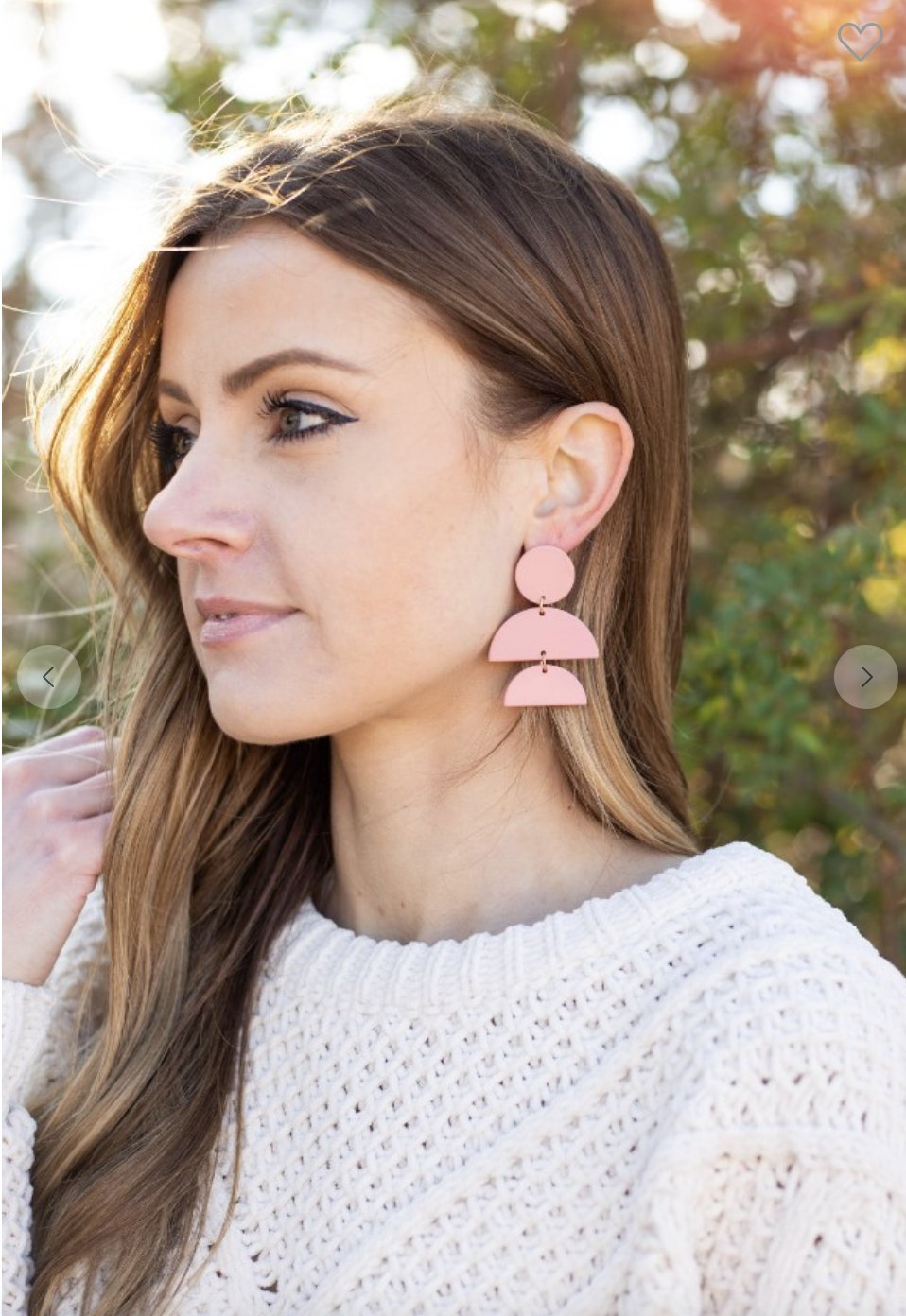 Pink Stacked Luna Earrings