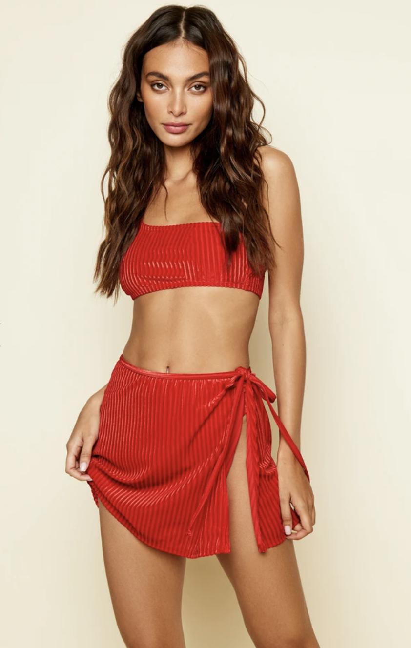 Aglow Skirt Wild Cherry