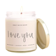Love You Soy Candle Clear Jar