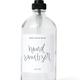 Clear Glass Hand Sanitizer Dispenser 16oz