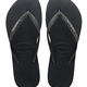 Havaianas Slim Glitter Flip Flop - Black