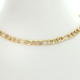 "13"" Figaro Chain Choker 18K Gold Plated"