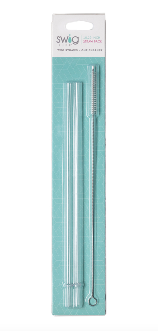 Swig Tall Clear Reusable Straw Set (for 22oz or 32oz)