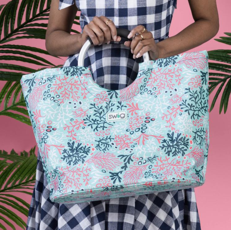 Swig Coral Me Crazy Tote Bag