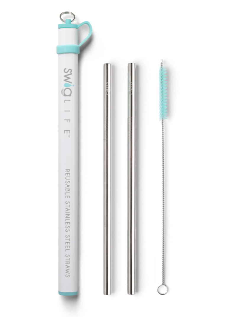 Swig Double Stainless Steel Straw Set