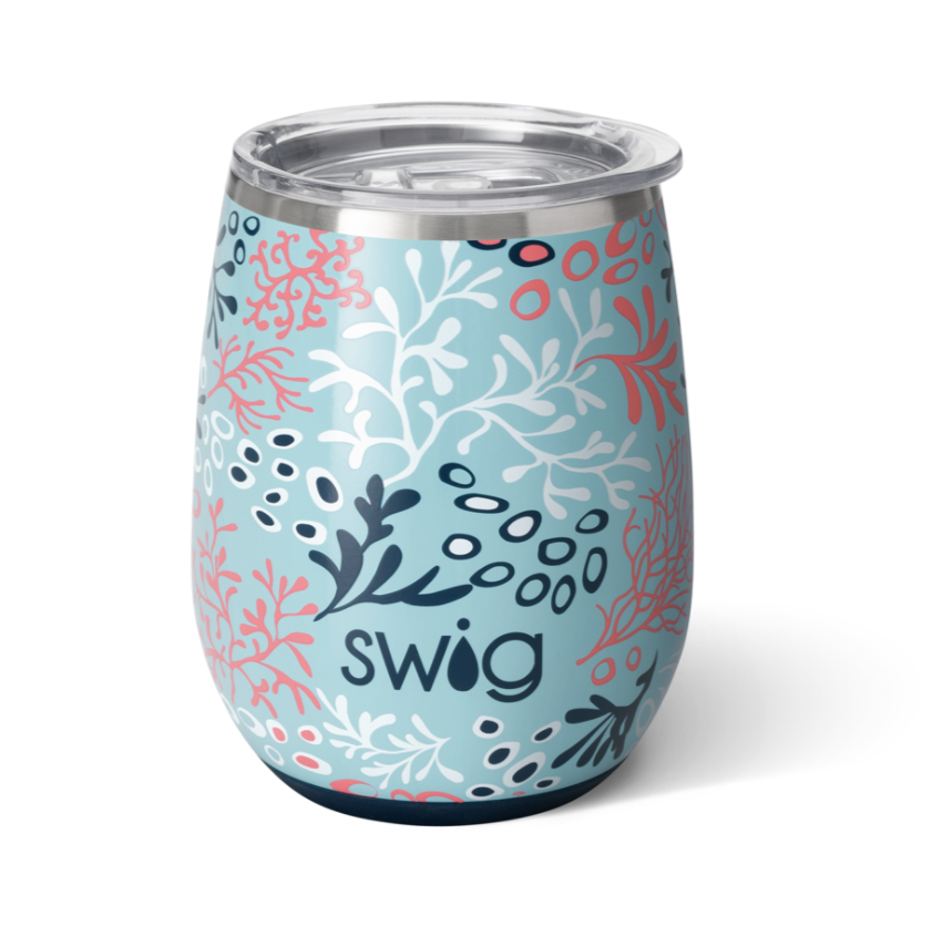 Swig Coral Me Crazy Stemless Cup (14oz)