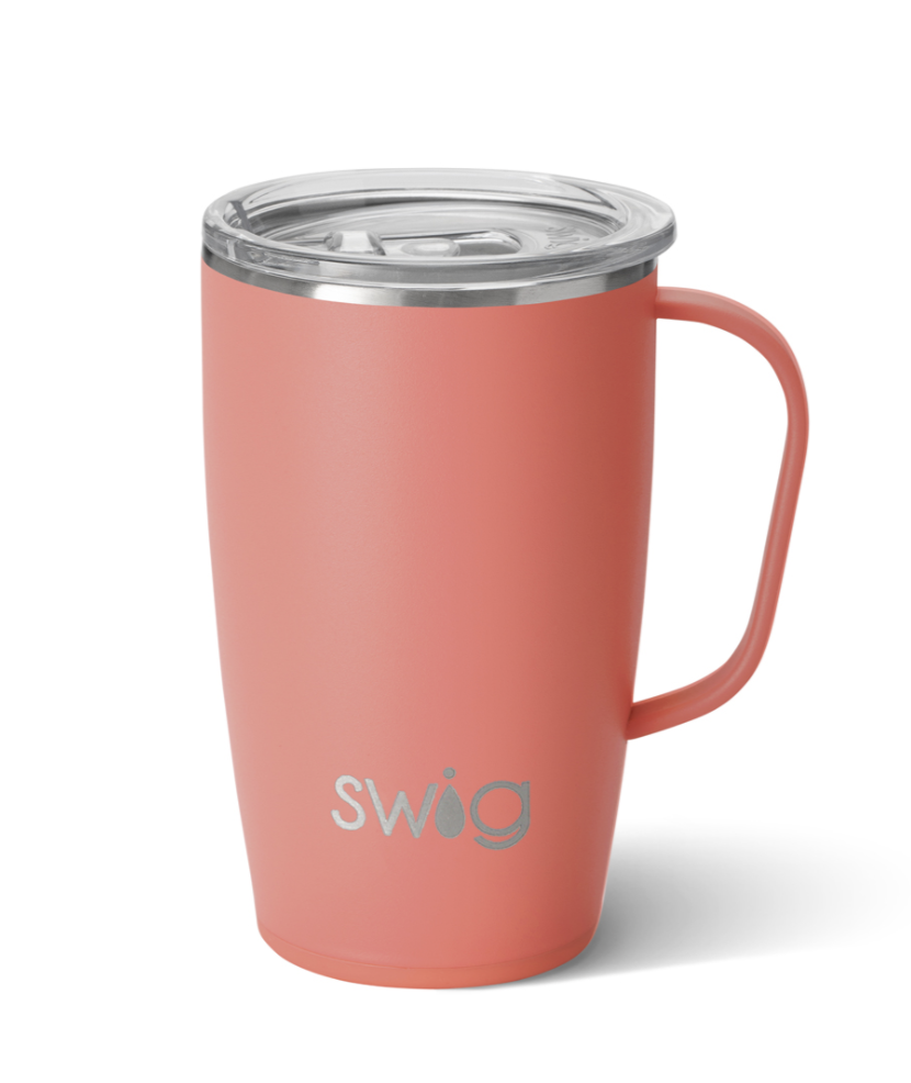 Swig Matte Coral Mug (18oz)