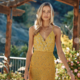 Mustard Floral Smocking Dress