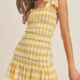 Yellow Smocked Mini Dress