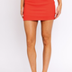 Red Knit Mini Skirt