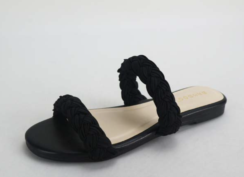 Black Zest Braided Slide