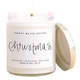 Christmas Soy Candle Clear Jar